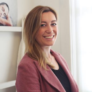 Belinda Hughes, founder. The clinic performs the professional quality facials using products with natural ingredients